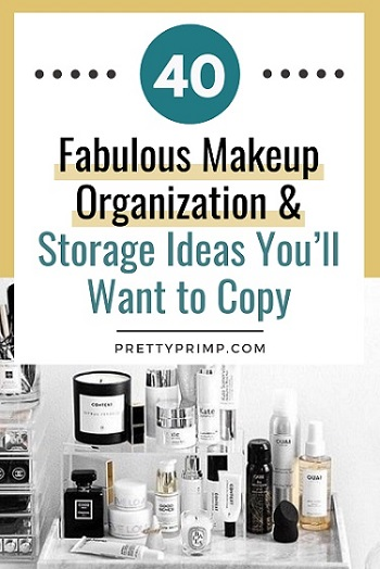 Makeup Storage Ideas Pin